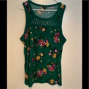 Beautiful green floral blouse